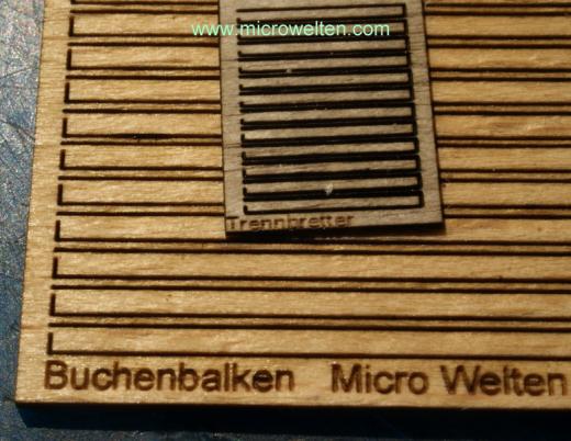 Ladegut Buchenbalken