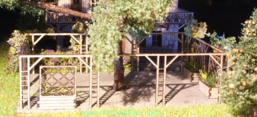 Gastgarten mit Pergola H0
