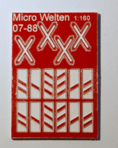 Beschilderung für Bahnübergang Österreich N