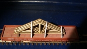 Ladegut 4 Dachbinder mit Rack