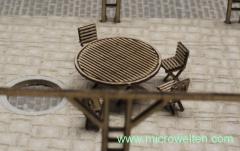 Runder Tisch mit Stühlen H0